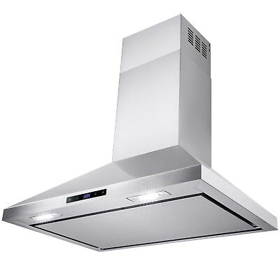 """36"""" Stainless Steel Wall Mount Kitchen Range Hood Touch Screen Display"""