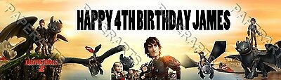 Personalized How to Train Your Dragon 2 Name Banner Customized Poster