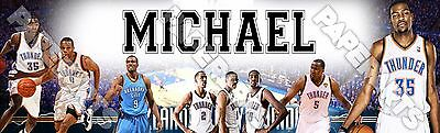 "OKC Thunder Poster Banner 30"" x 8.5"" Personalized Custom Name Printing"