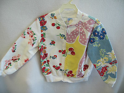 SUPER CUTE! Blue Moon Girls Vintage Pattern Floral Jacket 4T Kids Clothing NEW!!