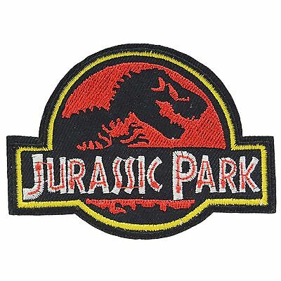 Jurassic Park Iron On Patch Uniform Movie Film Cosplay Logo Costume Dinosaur