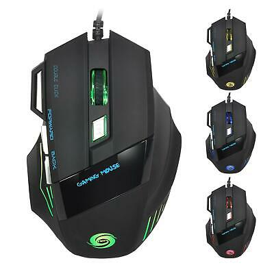 5500DPI LED Optical USB Gaming Mouse 7 Button Gamer Laptop PC Computer Mice