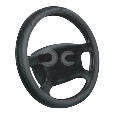 Coprivolante Universale Simoni Racing Red Seam Pelle Nero Auto Accessori Interno