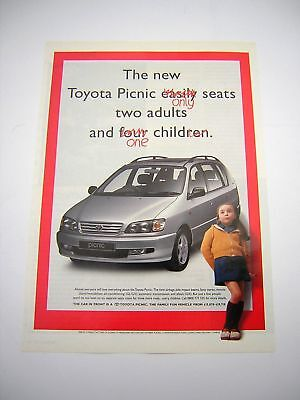 Toyota Picnic Advert from 1997 - Original