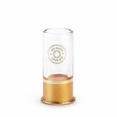 Big Sky Carvers Big Shot Shotgun Shell Style Glass Shot Glass, 1 Ounce