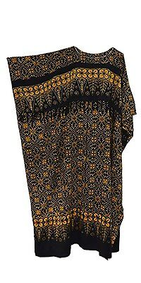 Cool Kaftans MADURA BLACK Batik Kaftan Caftan Ladies Abstract Long Plus Size NEW