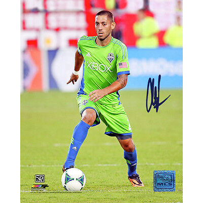 Clint Dempsey Signed Action Seattle Sounders 8x10 Photo Steiner COA