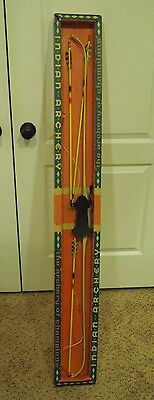 Vintage Indian Archery Set- Bow and Arrow #24  25 LB with Original Box