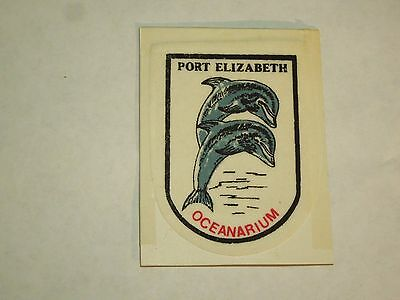 Vintage Port Elizabeth Oceanarium Travel Souvenir Printed Felt Sew On Patch