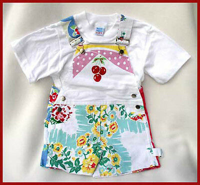 CUTE Blue Moon Girls Vintage Style Floral Pattern Romper 4T Kids Clothing NEW!!!