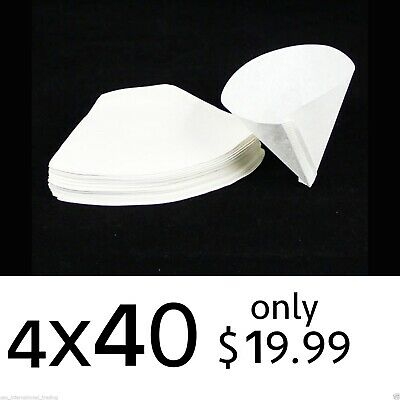 400 Expresso cup Coffee Machine Maker Paper Filter Paper Fit 4 - 8 cups_White