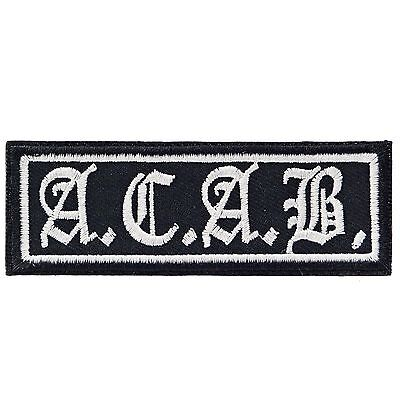 ACAB Iron On Patch Badge Embroidered Biker Punk Police Ultras Motorcycle