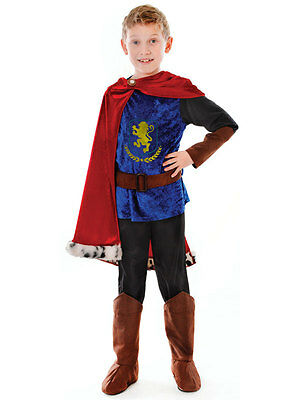 Boys Fantasy Prince Fairy Tale Book Week Kids Fancy Dress Costume Outfit King