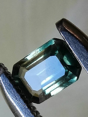"""Australian Natural Cut Faceted Parti Color 0.46 ct Sapphire """"Stunning_Gemstones"""""""