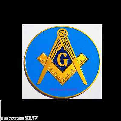 Blue Lodge Classic Masonic Auto Emblem FreeMasonry Car Lodge Mason Freemason PHA