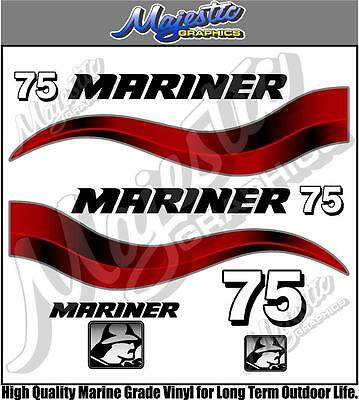 MARINER - 75hp - OUTBOARD DECALS