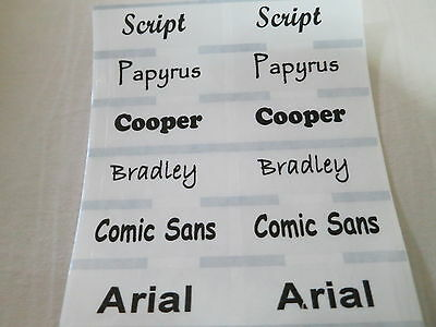 100 Transparent Clear Personalized Waterproof Name Stickers Daycare School
