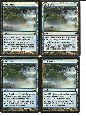 mtg Magic 4x Vivid Creek ( Arroyo vivida ) Lorwyn English Excellent
