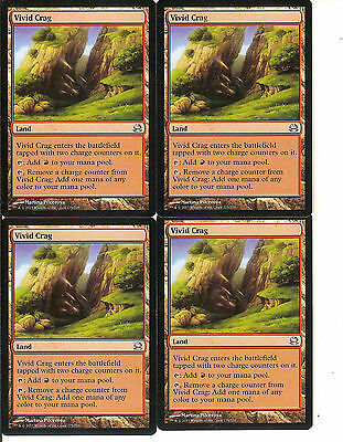 mtg Magic 4x Vivid Crag ( Risco vívido ) Spanish Excellent Lorwyn