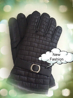 Fashion Men Ladies Water Proof Winter Full Finger Lined Warm Gloves