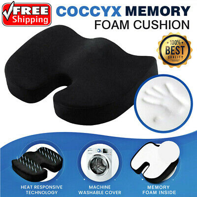 Coccyx Orthopedic Memory Foam Seat Cushion Car Office Seat Lumbar Back Cushion