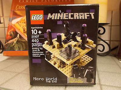 """LEGO MINECRAFT NEW MICRO WORLD """"THE END"""" PLAYSET /NEW IN BOX"""