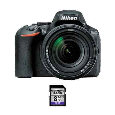 Nikon D5500 DSLR Camera w/18-140mm Lens & 8GB SDHC Card
