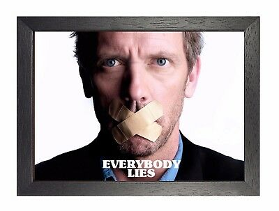 House - Everybody Lies Quote Poster Laurie Handsome Sexy Man Film Picture Drama