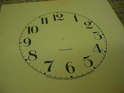 """Vintage Replacement Antiqued Cream 4"""" Arabic Numeral Gilbert Clock Dial ZZ102b"""