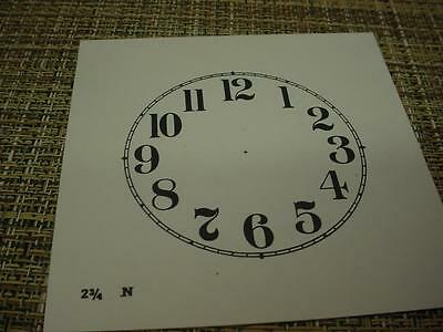 "Vintage Replacement  2-3/4"" Alarm Novelty Clock Arabic Numeral Dial ZZ108b"