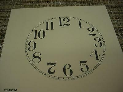 """Replacement Antiqued Color 4-1/5"""" Arabic Numeral Sessions Clock Co. Dial ZZ20"""