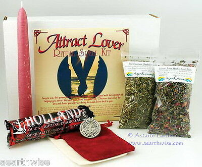 ATTRACT A LOVER RITUAL SPELL KIT Wicca Pagan Witch Goth BRING DESIRED LOVER
