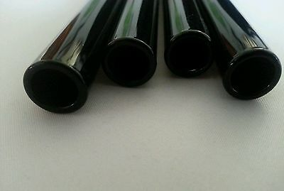 "8"" Black Glass Pyrex Tubes 12mm OD 8mm ID Glass Blowing Tubing 10 Piece"