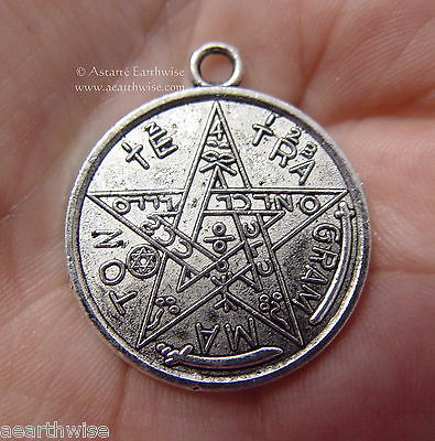 TETRAGRAMMATON PENTACLE PENTGAGRAM AMULET Wicca Pagan Witch Goth Punk Occult
