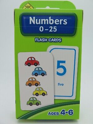 Numbers 0-25 Flash Cards Ages 4-6 Early Learning - Hinkler 77829*