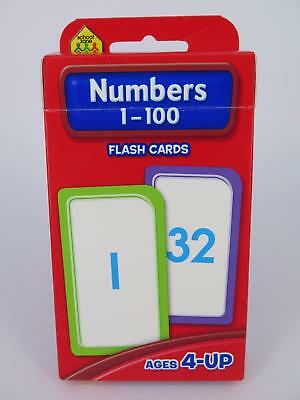 Numbers 1-100 Flash Cards Ages 4-Up Early Learning - Hinkler 77815*