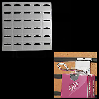 100x Strong Clear/ Self Adhesive Hang Tabs Stickers for Euro Hook/Slot/Hang Tabs