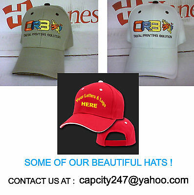 (12 pc) Custom Embroidery Embroidered HATS CAPS Logo (12 pc)