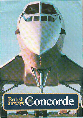 British Airways Concorde Poster Brochure Vintage 1980 Ba Crown Logo