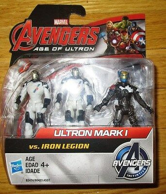 "Avengers Age of Ultron ULTRON MARK I vs. IRON LEGION 2.5"" Figure Set NEW"