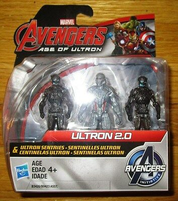 "Avengers Age of Ultron ULTRON 2.0 & ULTRON SENTRIES 2.5"" Figure Set 3 PACK NEW"