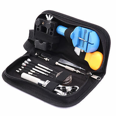 Pro 30Pcs Watch Repair Tools Kit Band Case Opener Pin Remover Battery Bar Change