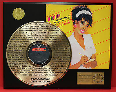 DONNA SUMMER GOLD LP RECORD LTD EDITION LASER ETCHED W/ SONGS LYRICS