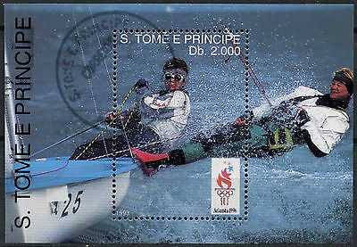 St. Thomas & Prince Islands 1993, Sailing Olympics Cto Used M/S #A86793
