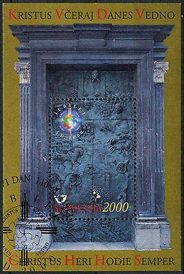 Slovenia 2000 SG#MS446 HOly Year Cto Used M/S Cat £33 #A86707