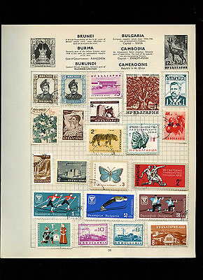Bulgaria Album Page Of Stamps #V2643