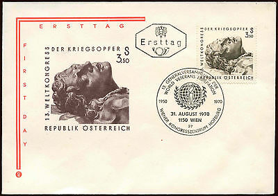 Austria 1970 Veterans Federation FDC First Day Cover #C23770