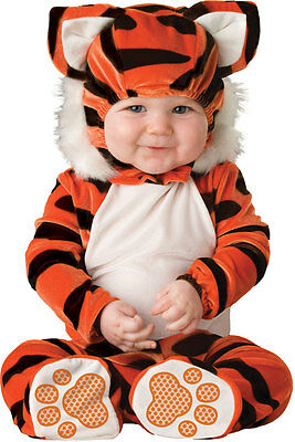 New Tiger Tot Baby Babygrow Outfit Jungle Animal Cat Toddler Fancy Dress Costume