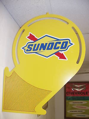 1930S 1940S Sunoco  Oil Arrow Style Advertising Sign