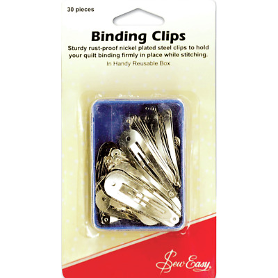 Sew Easy Nickel Plated Steel Binding Clips Quilting Patchwork